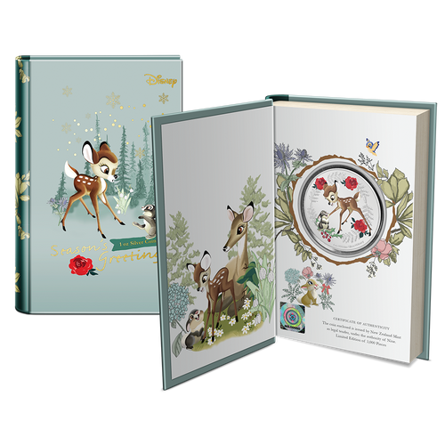 Disney Season's Greetings 2020 1oz Silver Coin Booklet Packaging