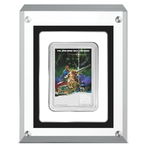 40th Anniversary of Star Wars: The Empire Strikes Back™ 1oz Silver Coin in Perspex | NZ Mint