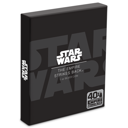 40th Anniversary of Star Wars: The Empire Strikes Back™ 1oz Silver Coin Box | NZ Mint