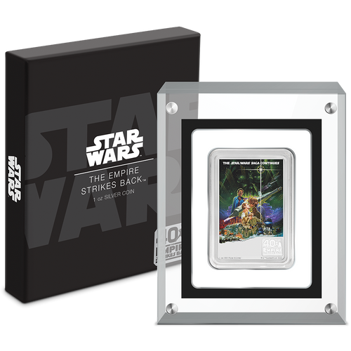 40th Anniversary of Star Wars: The Empire Strikes Back™ 1oz Silver Coin Packaging | NZ Mint