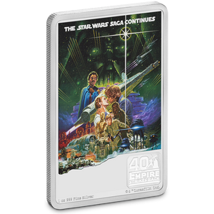 40th Anniversary of Star Wars: The Empire Strikes Back™ 1oz Silver Coin Front | NZ Mint