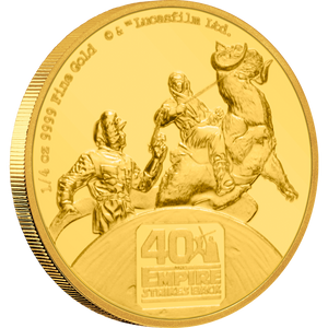 40th Anniversary of Star Wars: The Empire Strikes Back™ 1/4oz Gold Coin Front | NZ Mint