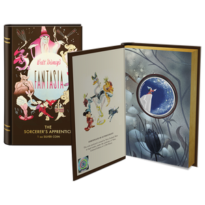 "Disney's Fantasia 80th Anniversary – ""The Sorcerer's Apprentice"" 1oz Silver Coin Display Packaging"