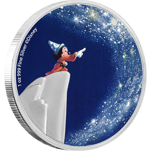 "Disney's Fantasia 80th Anniversary – ""The Sorcerer's Apprentice"" 1oz Silver Coin NZ Mint"