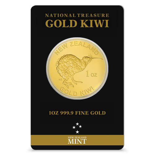 1oz Gold Kiwi Bullion Coin | NZ Mint | Tamperproof Packaging Front