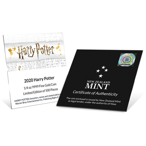 HARRY POTTER™ - Harry Potter™ 1/4oz Gold Coin Certifificate of Authenticity