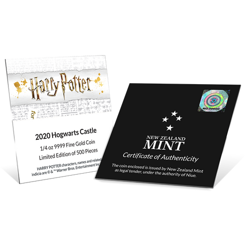 HARRY POTTER™ - Hogwarts Castle 1/4oz Gold Coin