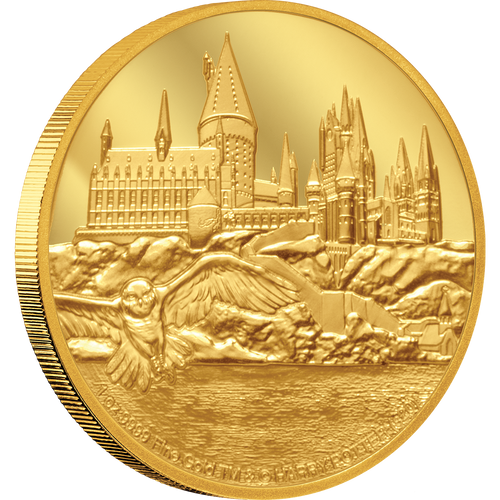 HARRY POTTER™ - Hogwarts Castle 1oz Gold Coin