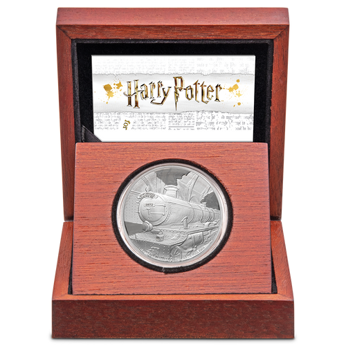 HARRY POTTER™ - Hogwarts™ Express 1oz Silver Coin Display