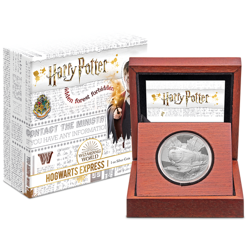HARRY POTTER™ - Hogwarts™ Express 1oz Silver Coin Packaging