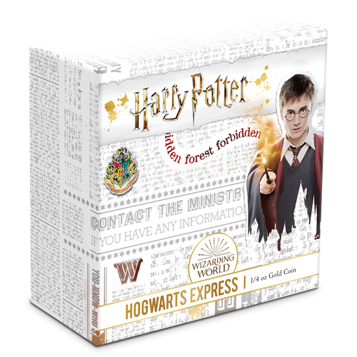 HARRY POTTER™ - Hogwarts™ Express 1/4oz Gold Coin Box