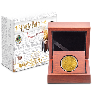 HARRY POTTER™ - Hogwarts™ Express 1/4oz Gold Coin Packaging