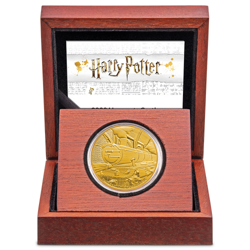 HARRY POTTER™ - Hogwarts™ Express 1 Gold Coin Display