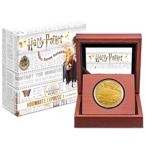HARRY POTTER™ - Hogwarts™ Express 1 Gold Coin Packaging