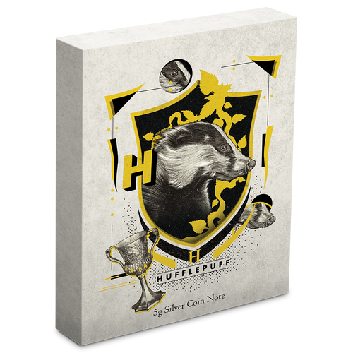 HARRY POTTER™ - Hogwarts House Banners - Hufflepuff 5g Silver Coin Note  Box