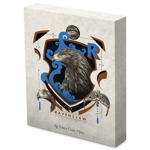 HARRY POTTER™ - Hogwarts House Banners - Ravenclaw 5g Silver Coin Note Box
