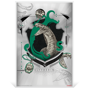 HARRY POTTER™- Hogwarts House Banners - Slytherin 5g Silver Coin Note