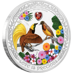 Love is Precious - Birds of Paradise 1oz Silver Coin