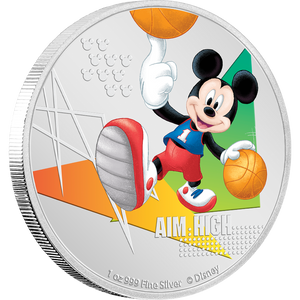 Disney Mickey Mouse 2020 – Aim High 1oz Silver Coin NZ Mint