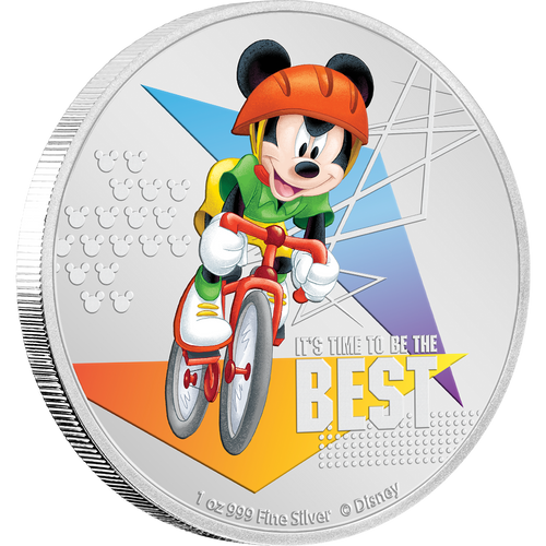 Disney Mickey Mouse 2020 – It's Time to be the Best 1oz Silver Coin NZ Mint