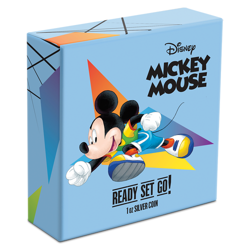 Disney Mickey Mouse 2020 – Ready Set Go! 1oz Silver Coin Box