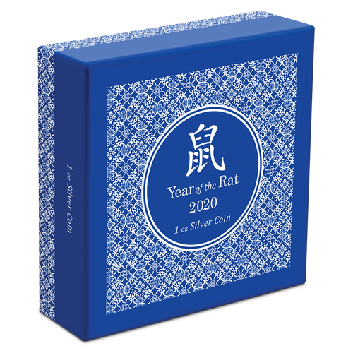 Lunar - Year of the Rat 1oz Silver Coin Box