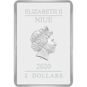 Ian Rank-Broadley Effigy of Queen Elizabeth II $2 Niue 2020 Obverse