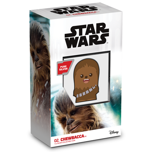 SOLD OUT! Chibi™ Coin Collection Star Wars™ Series – Chewbacca™ 1oz Silver Coin Packaging