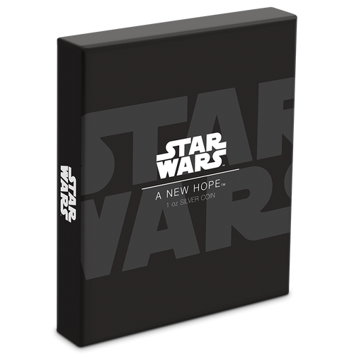 Star Wars: A New Hope Poster 1oz Silver Coin box