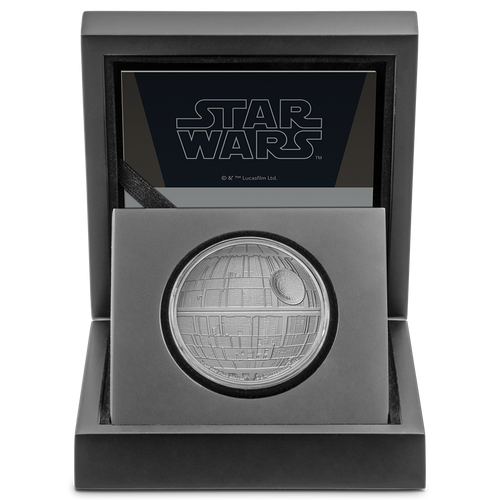 Star Wars™: Death Star™ 1oz Silver Coin Display Box