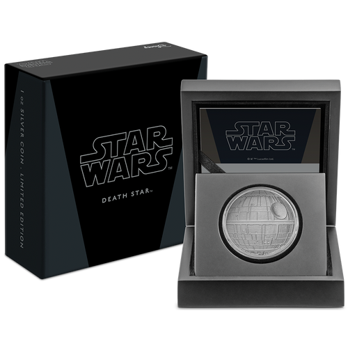 Star Wars™: Death Star™ 1oz Silver Coin With Packaging