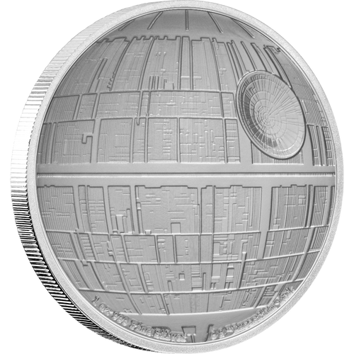 Star Wars™: Death Star™ 1oz Silver Coin Front | New Zealand Mint