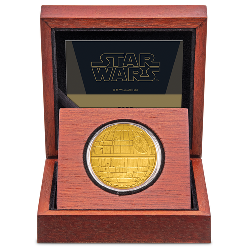 Star Wars™: Death Star™ 1oz Gold Coin in Display Box
