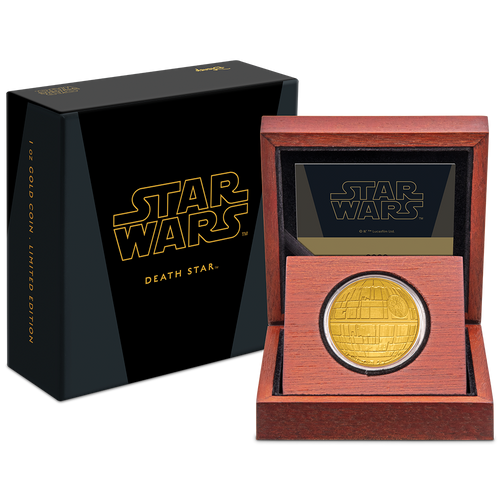 Star Wars™: Death Star™ 1oz Gold Coin Packaging