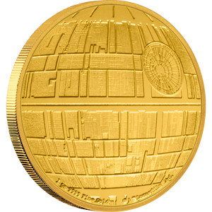 Star Wars™: Death Star™ 1oz Gold Coin Front | New Zealand Mint