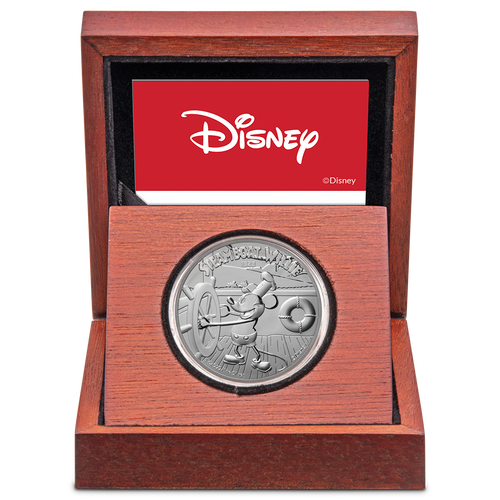 Disney – Steamboat Willie 1oz Silver Coin Display Box