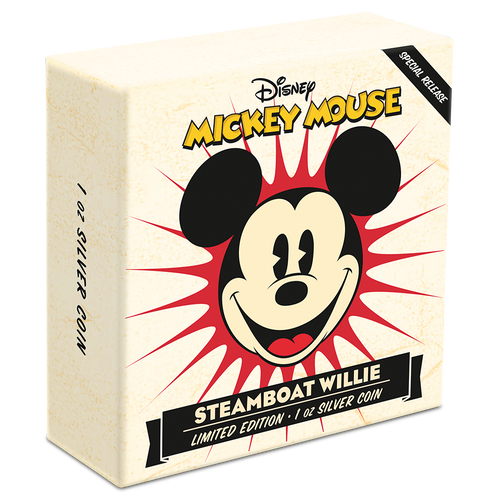 Disney – Steamboat Willie 1oz Silver Coin Box