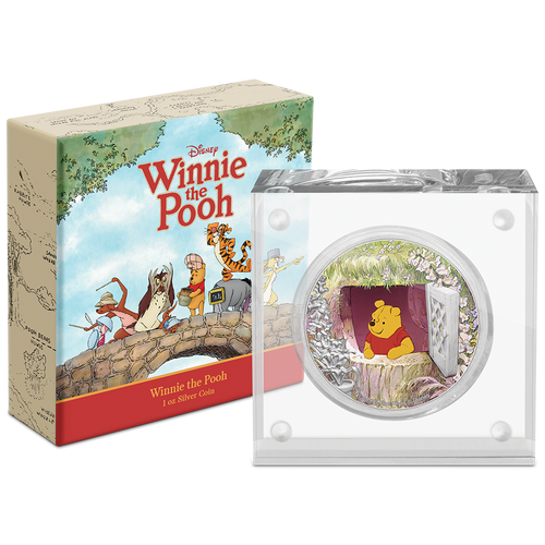 Disney Winnie the Pooh – Pooh 1oz Silver Coin in Packaging