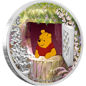 Disney Winnie the Pooh – Pooh 1oz Silver Coin Front | NZ Mint