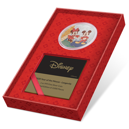 Disney 2020 Year of the Mouse – Longevity Presentation Box with Certificate