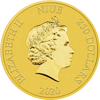 2020 1oz gold bullion coin featuring the Queen's effigy