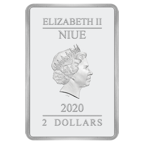 Ian Rank-Broadley Effigy of Queen Elizabeth II $2 Niue 2020 Rectangle Obverse