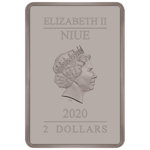 Ian Rank-Broadley Effigy of Queen Elizabeth II $2 Niue 2020 Rectangle Obverse Antique