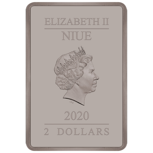 Ian Rank-Broadley Effigy of Queen Elizabeth II $2 Niue 2020 Obverse Antiqued