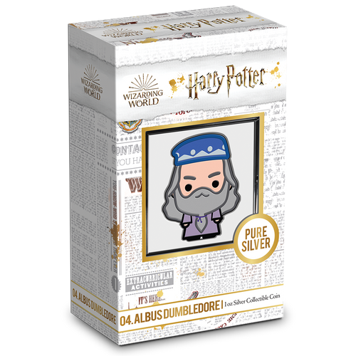 SOLD OUT! Chibi™ Coin Collection HARRY POTTER™ Series – ALBUS DUMBLEDORE™ 1oz Silver Coin
