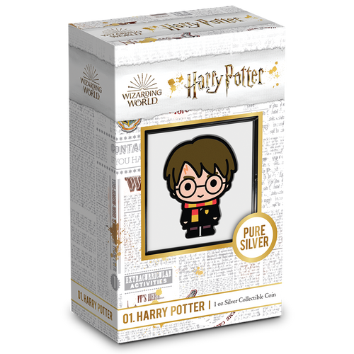 Chibi Coin Collection HARRY POTTER™ Series – HARRY POTTER™ 1oz Silver Coin Display Packaging