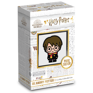 SOLD OUT! Chibi™ Coin Collection HARRY POTTER™ Series – HARRY POTTER 1oz Silver Coin Packaging