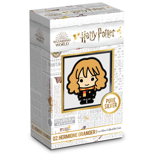 Chibi Coin Collection HARRY POTTER Series – HERMIONE GRANGER 1oz Silver Coin Packaging