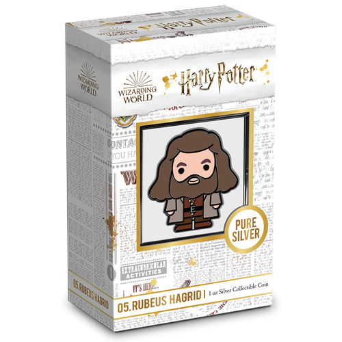 Chibi™ Coin Collection HARRY POTTER™ Series – RUBEUS HAGRID™ 1oz Silver Coin Packaging & Certificate of Authenticity