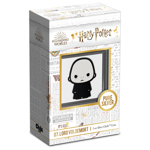 Chibi™ Coin Collection HARRY POTTER™ Series – LORD VOLDEMORT™ 1oz Silver Coin Packaing & Certificate of Authenticity